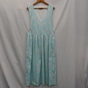 VTG Floral maxi dress jumper COTTAGECORE